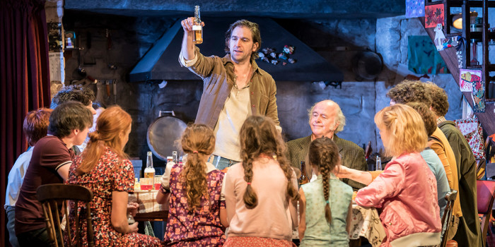 Owen McDonnell and the cast of The Ferryman at the Gielgud Theatre (Photo: Johan Persson)