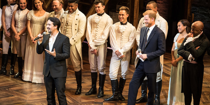 Lin-Manuel Miranda and Price Harry at the Hamilton Sentebale gala (Photo: Craig Sugden)