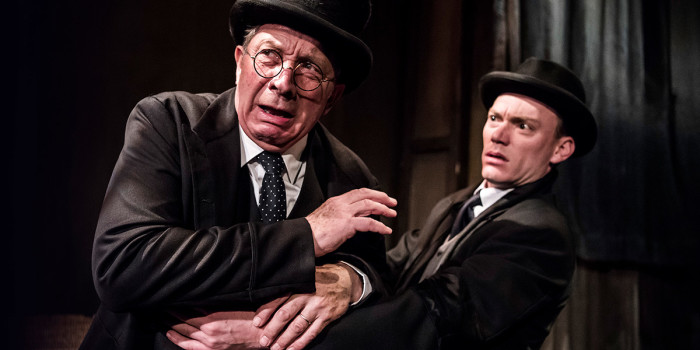 Richard Hope and Mark Hawkins in The Woman In Black (Photo: Tristram Kenton)