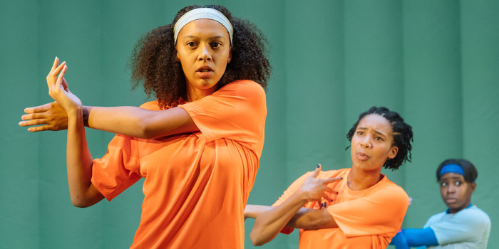 Francesca Henry in The Wolves at Theatre Royal Stratford East (Photo: Manuel Harlan)