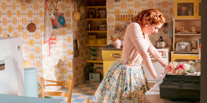 Katherine Parkinson as Judy in Home, I'm Darling (Photo: Manuel Harlan)