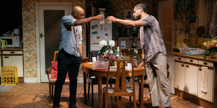 Oliver Alvin-Wilson and Karl Collins in Nine Night (Photo: Helen Murray)