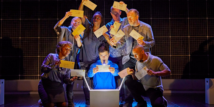 Joshua Jenkins and the company of The Curious Incident Of The Dog In The Night-Time (Photo: Brinkhoff/Mogenburg)