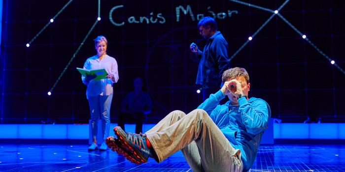 Julie Hale, Stuart Laing and Joshua Jenkins in The Curious Incident Of The Dog In The Night-Time (Photo: Brinkhoff/Mogenburg)