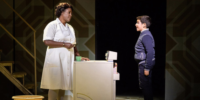 Sharon D Clarke and Aaron Gelkoff in Caroline, Or Change at Playhouse Theatre (Photo: Helen Maybanks)