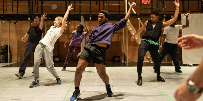 The company of Leave to Remain at the Lyric Hammersmith in rehearsals. Photo by Helen Maybanks (1)