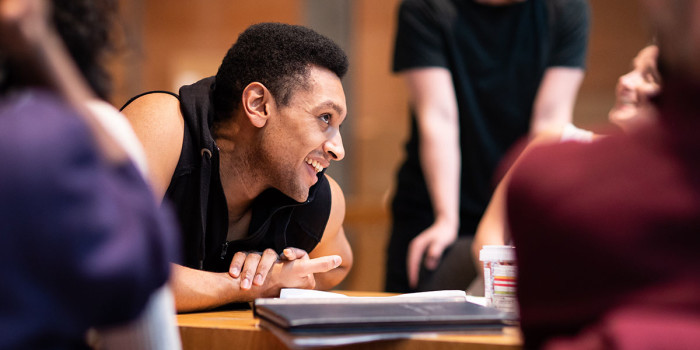 Arun Blair-Mangat (Damien) in rehearsals for Leave to Remain. Photo by Helen Maybanks (1)