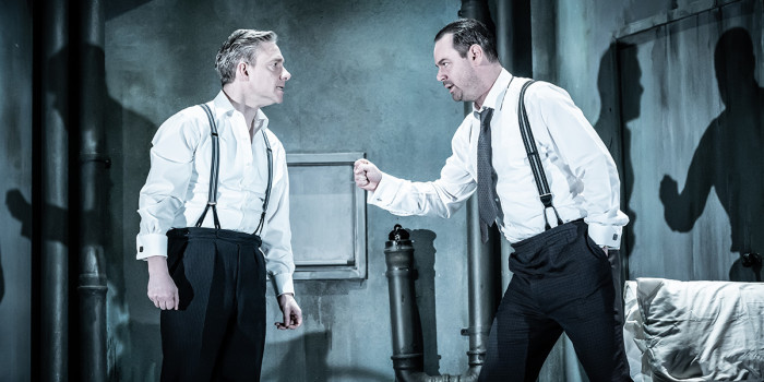 Martin Freeman and Danny Dyer in Pinter Seven (Photo: Marc Brenner)