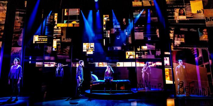 Current Broadway cast of Dear Evan Hansen, photo credit Matthew Murphy.
