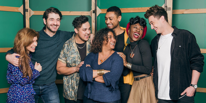 The lead cast of & Juliet, a new West End musical