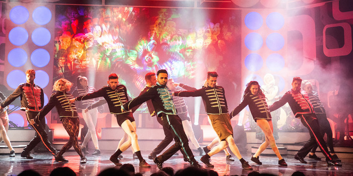 The cast of Rip It Up - The 60s at the Garrick Theatre (Photo: Fiona Whyte/The TBC Group)