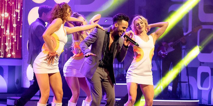 Aston Merrygold in Rip It Up - The 60s at the Garrick Theatre (Photo: Fiona Whyte/The TBC Group)