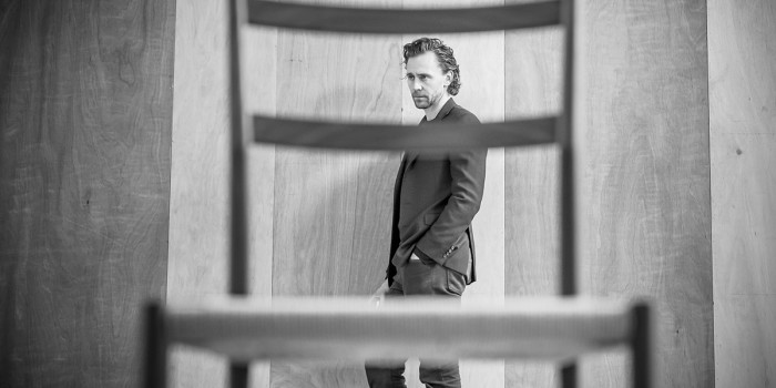 Tom Hiddleston in rehearsal for 'Betrayal'. Photo credit Marc Brenner.