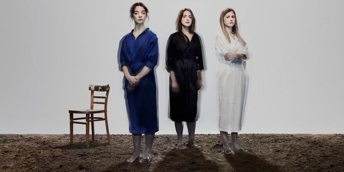 Three Sisters. Patsy Ferran, Pearl Chanda and Ria Zmitrowicz. Photo - Nadav Kander.