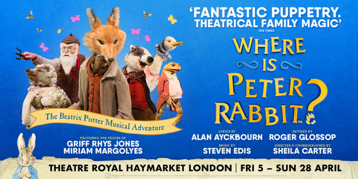 Where Is Peter Rabbit? at Theatre Royal Haymarket
