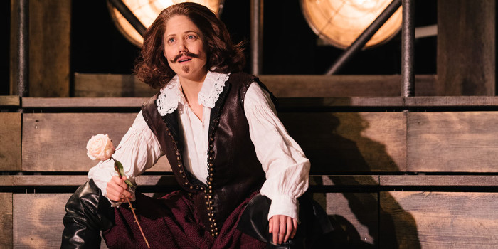Charity Wakefield (William Shakespeare) in Emilia at the Vaudeville Theatre. Photo credit Helen Murray.