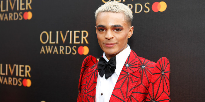 Layton Williams on the red carpet at the Olivier Awards 2019 with Mastercard (Photo: Pamela Raith)
