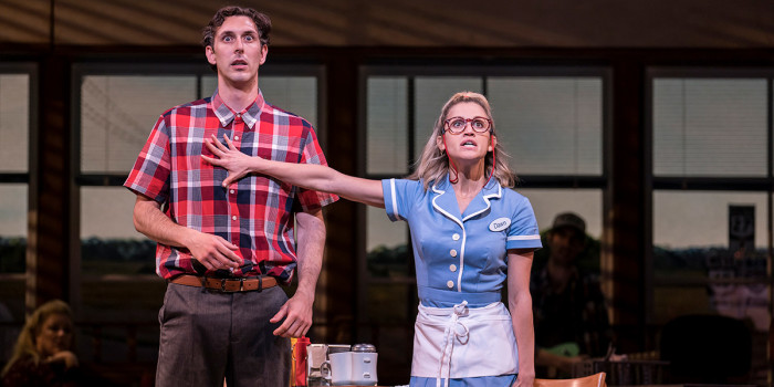 Blake Harrison and Ashley Roberts in Waitress (Photo: Johan Persson)