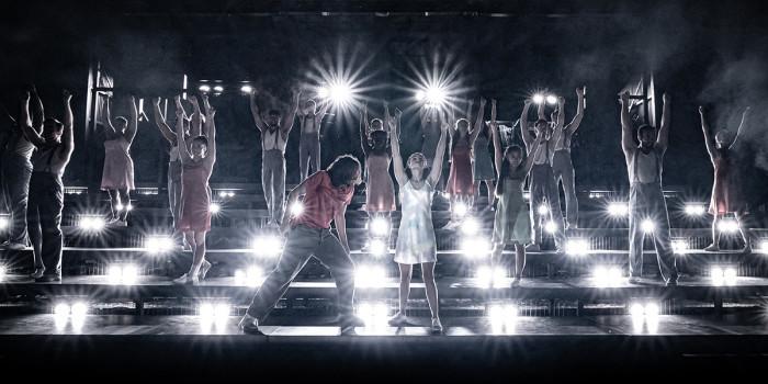 The company of Evita at Regent's Park Open Air Theatre