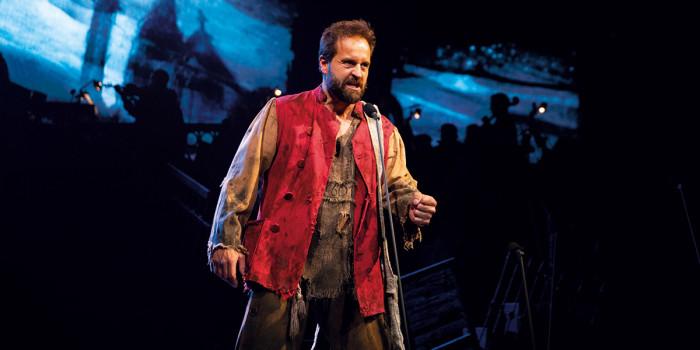 Alfie Boe as Jean Valjean - Photograph Matt Murphy