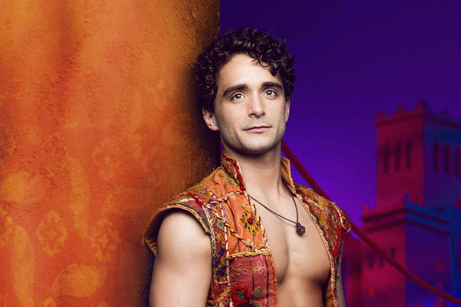 Matthew Croke as Aladdin in Disney's Aladdin
