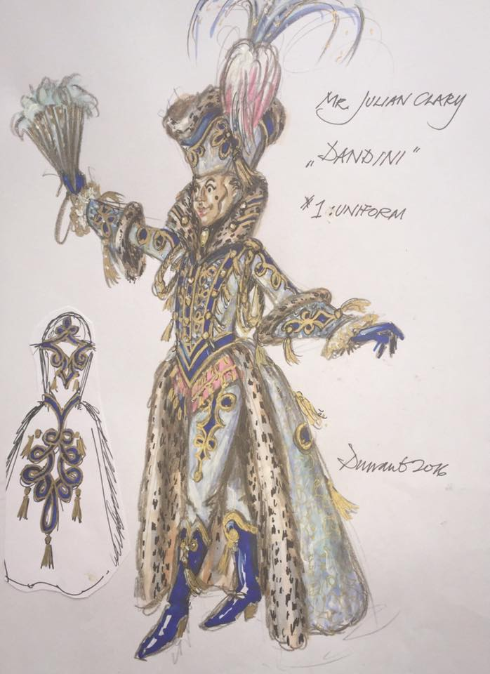 Costume designs for Cinderella (Credit: Hugh Durrant/Qdos Entertainment)