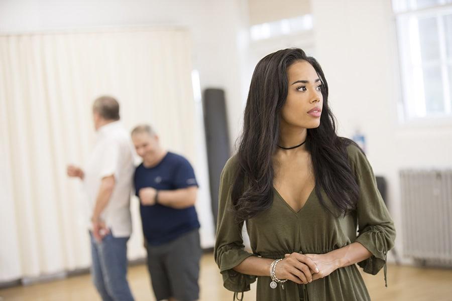 Jade Ewen (Jasmine) in rehearsal for Disney's Aladdin (Photo: Johan Persson)