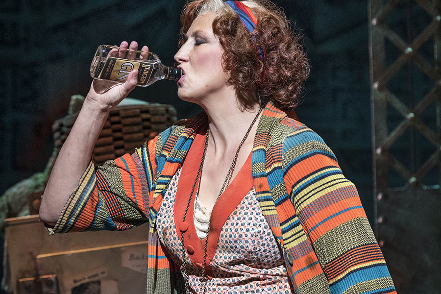Miranda Hart (Miss Hannigan) in Annie at the Piccadilly Theatre (Photo: Paul Coltas)