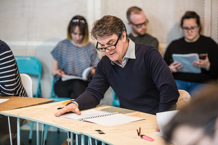 Alexander Hanson (Bernard Jenkin MP) in rehearsals for Committee... (A New Musical)