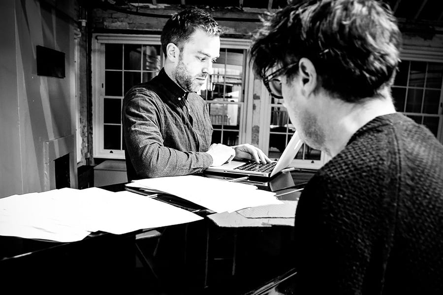 Hadley Fraser (Book and Lyrics) and Tom Deering (Music) in rehearsals for Committee... (A New Musical)