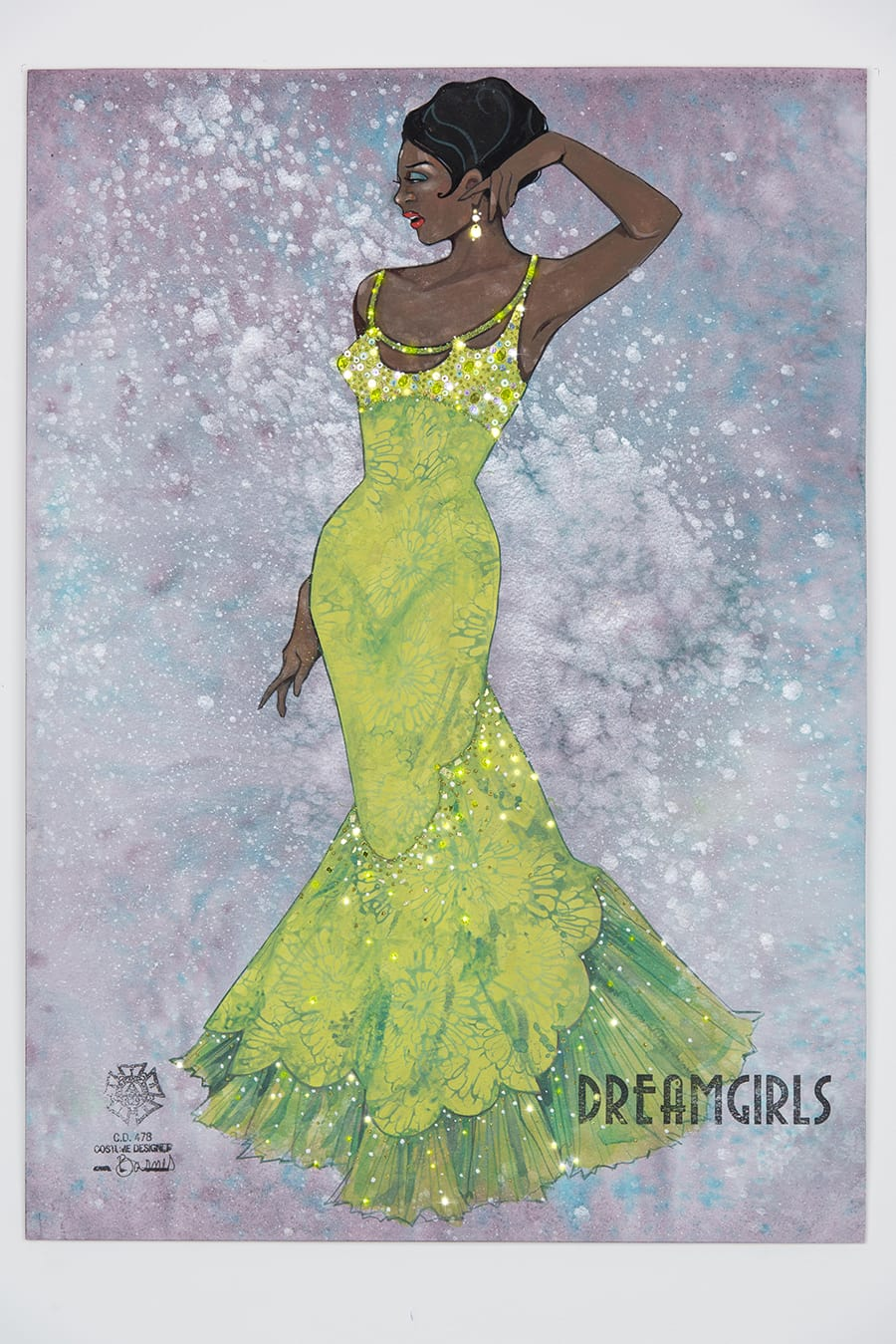 Costume designs for Dreamgirls (Credit: Original sketches by Gregg Barnes)