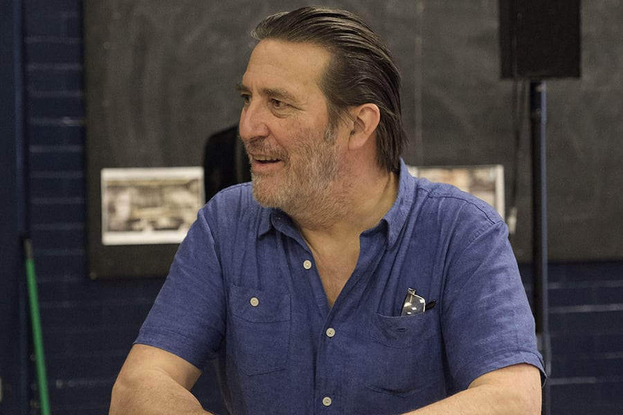 Ciaran Hinds (Nick Laine) in rehearsal for Girl From The North Country at The Old Vic (Photo: Manuel Harlan)