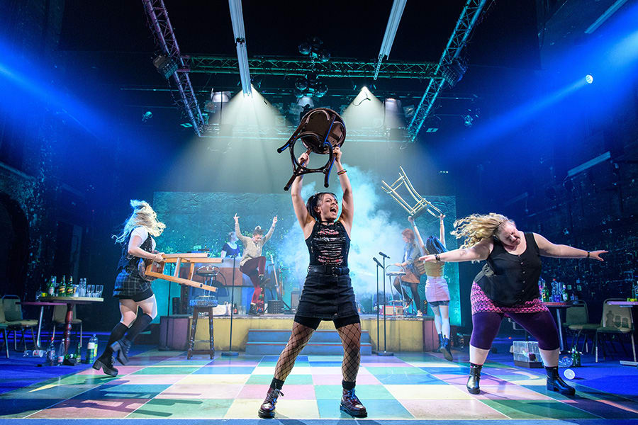 The cast of Our Ladies Of Perpetual Succour at the Duke of York's Theatre (Photo: Manuel Harlan)