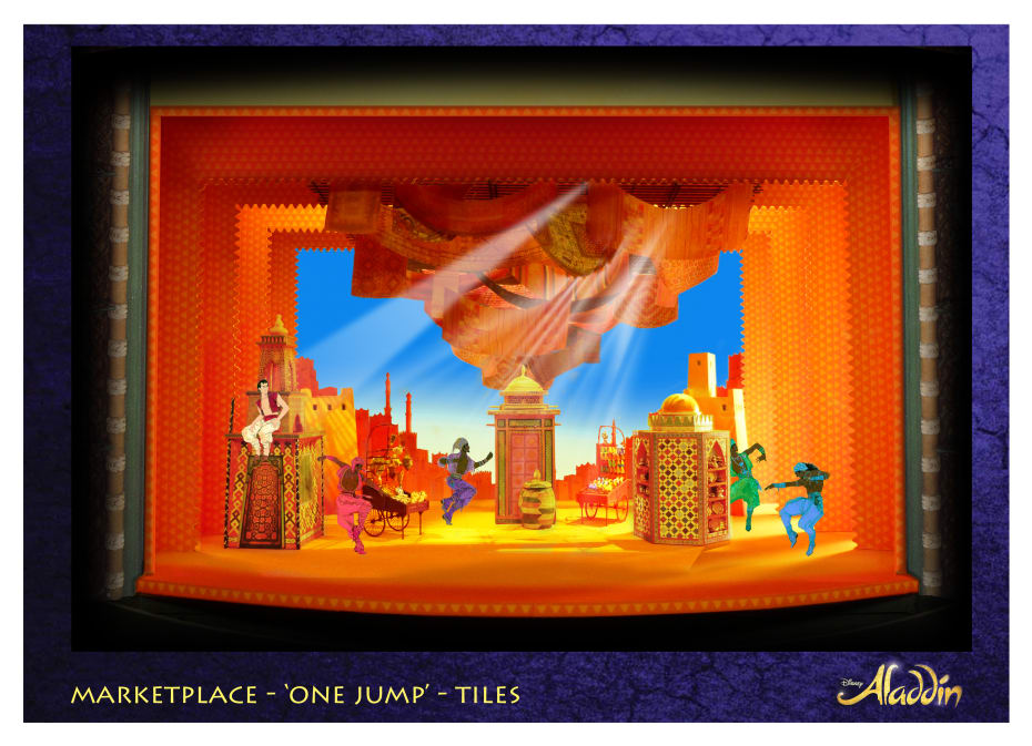 Set designs for Disney's Aladdin (Credit: Aladdin, Prince Edward Theatre - Bob Crowley © Disney)