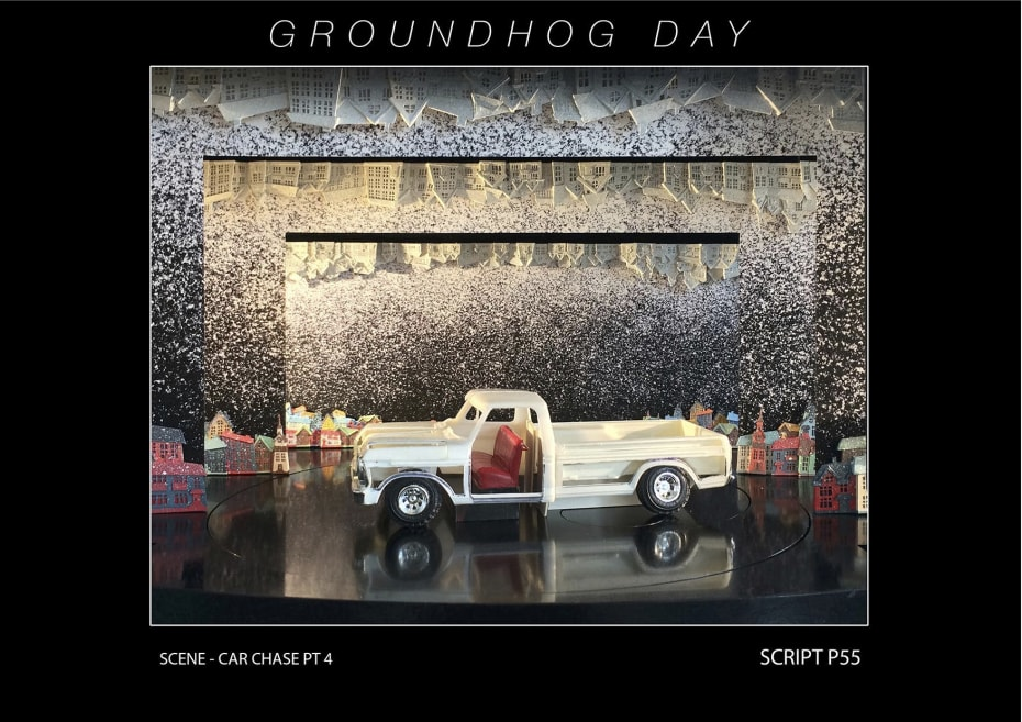 Set designs for Groundhog Day (Credit: Rob Howell for Groundhog Day)