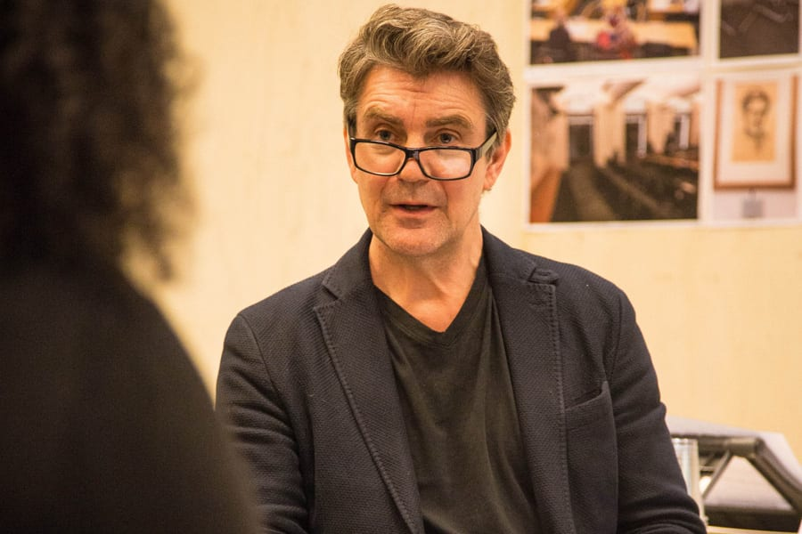 Alexander Hanson (Bernard Jenkin) in rehearsals for Committee... (A New Musical) at the Donmar Warehouse (Photo: Jack Sain)