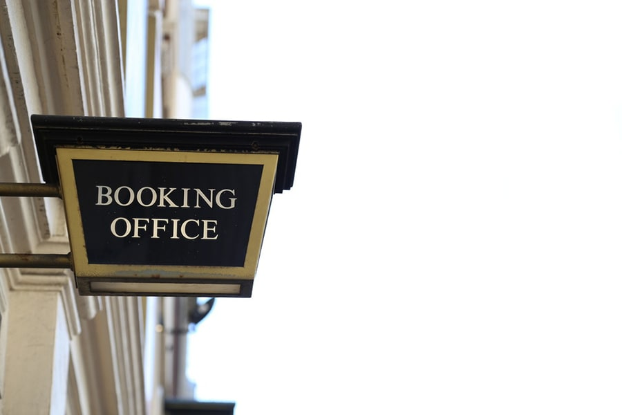 Booking office sign at Lyceum Theatre
