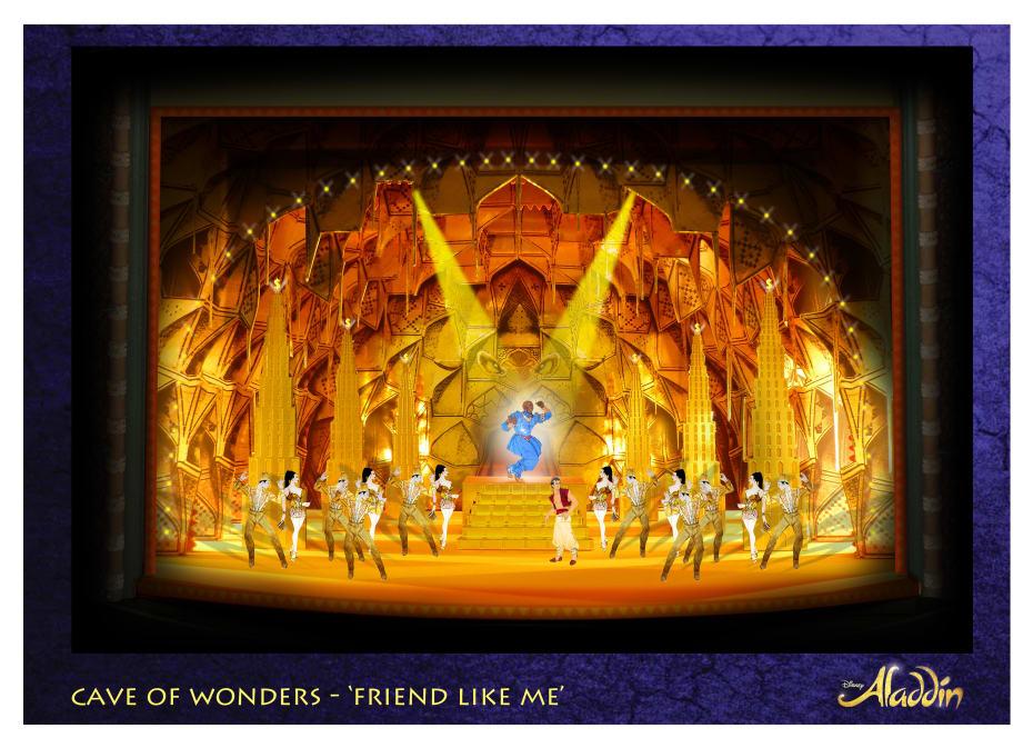 Set designs for Disney's Aladdin (Credit: Aladdin, Prince Edward Theatre - Bob Crowley © Disney)