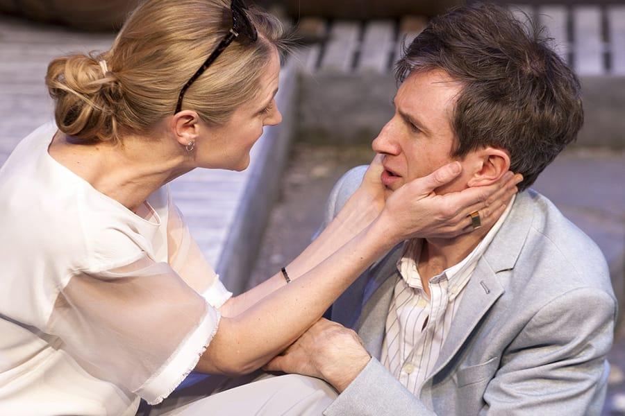 Naomi Frederick and Daniel Weyman in The Mentor (Photo: Simon Annand)