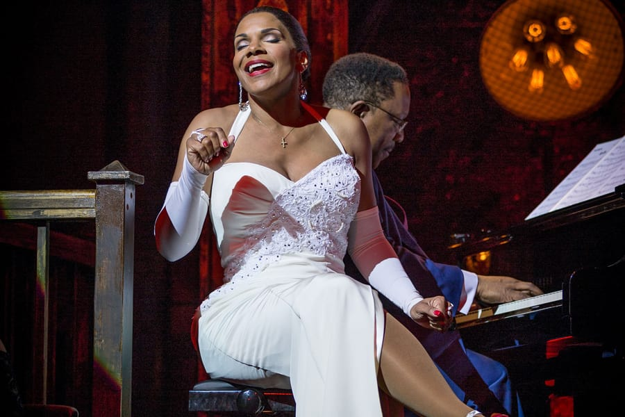 Audra McDonald and Shelton Becton in Lady Day At Emerson's Bar & Grill at Wyndham's Theatre (Photo: Marc Brenner)