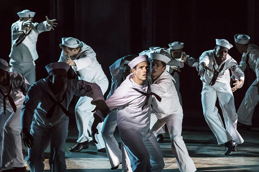Danny Mac as Gabey in On The Town (Photo: Johan Persson)