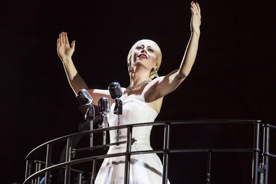 Emma Hatton as Eva Perón in Evita (Photo: Pamela Raith)