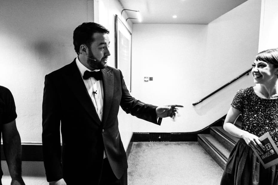 Jason Manford backstage at the Olivier Awards (Credit: Matt Humphrey)