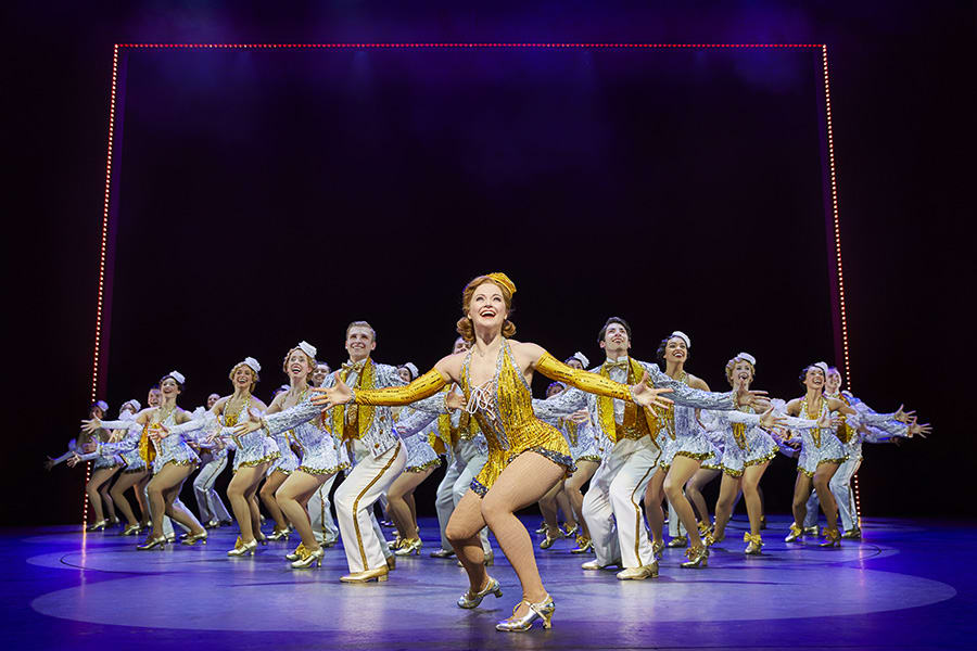 Clare Halse & company in 42nd Street (Photo: Brinkhoff & Moegenburg)