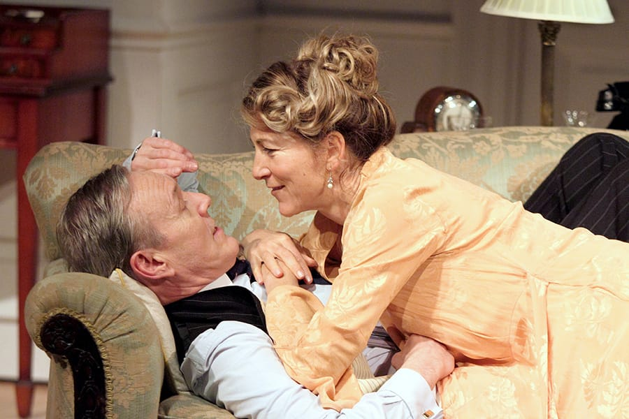 Anthony Head (Sir John Fletcher) & Eve Best (Olivia Brown) in Love In Idleness (Photo: Catherine Ashmore)