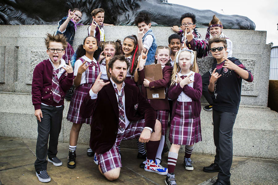 School Of Rock The Musical backstage at West End LIVE 2017 (Photo: Pamela Raith)