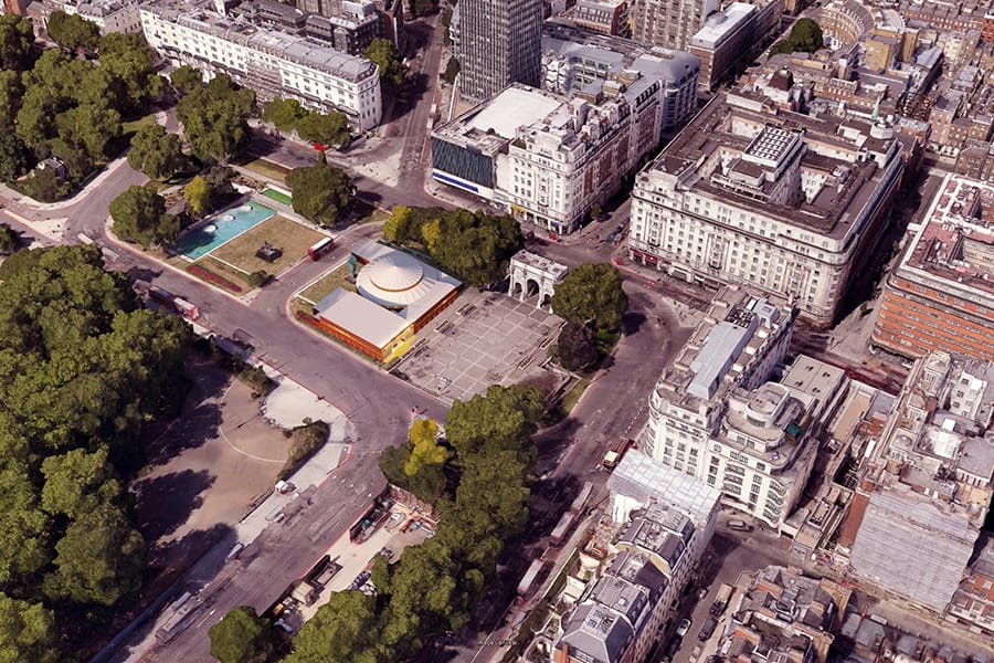 Artist's impression of the new Marble Arch theatre (Photo: Imaginar)