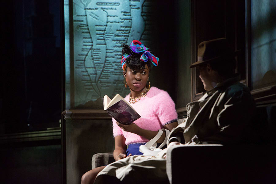 Vivienne Acheampong (Virginia Stillman) in Paul Auster's City Of Glass at the Lyric Hammersmith (Photo: Jonathan Keenan)