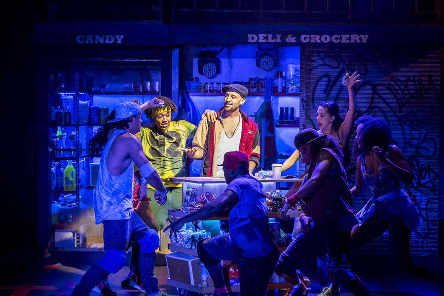 Sam Mackay and the company of In The Heights (Photo: Johan Persson)