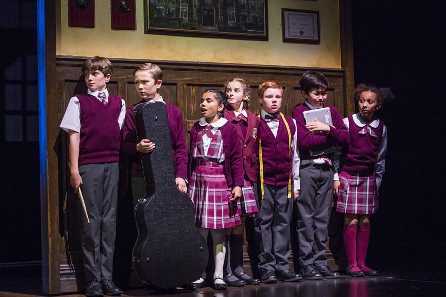 The kids from School Of Rock (Photo by Tristram Kenton)